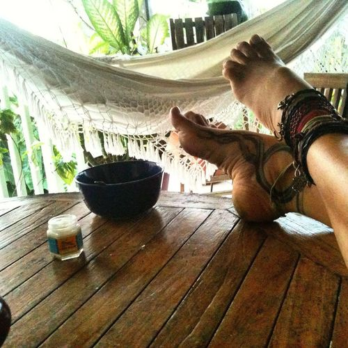 Good morning Barefoot Lifestyle Inner Peace Freedom Relaxing Le Helleux