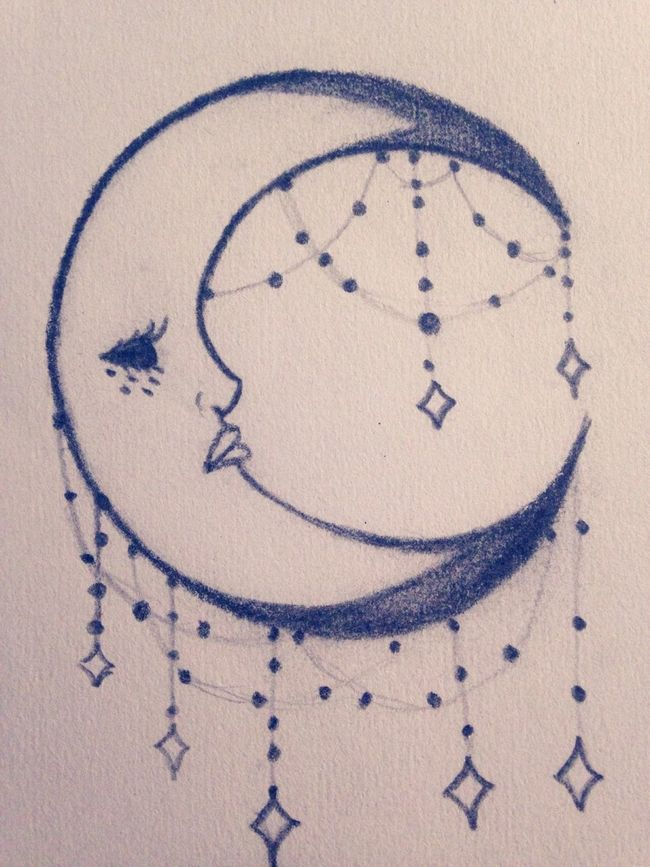 Drew a Moon for my sun ☺️ Serial Doodler Moon Child Drawing Art Doodle Sketch Ethereal Stars Crescent Moon