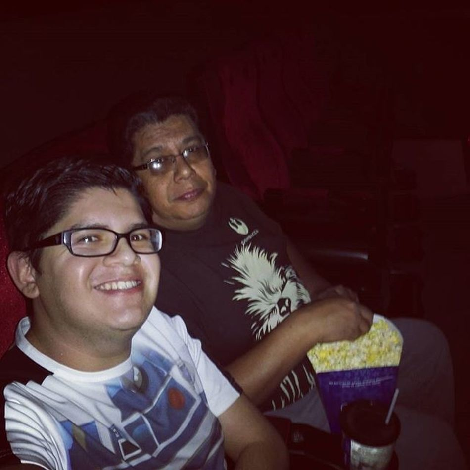He's my Jedi master and I'm his young apprentice, everyday I fight to be more like him TheForceAwakens Dadandsontime Starwars Cinepolis 4DX