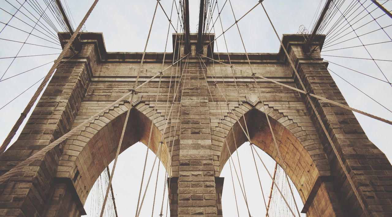 Arch Architecture Built Structure Connection Bridge - Man Made Structure Low Angle View Day No People Outdoors Travel Destinations Sky Bridge Brooklyn Bridge / New York Arches