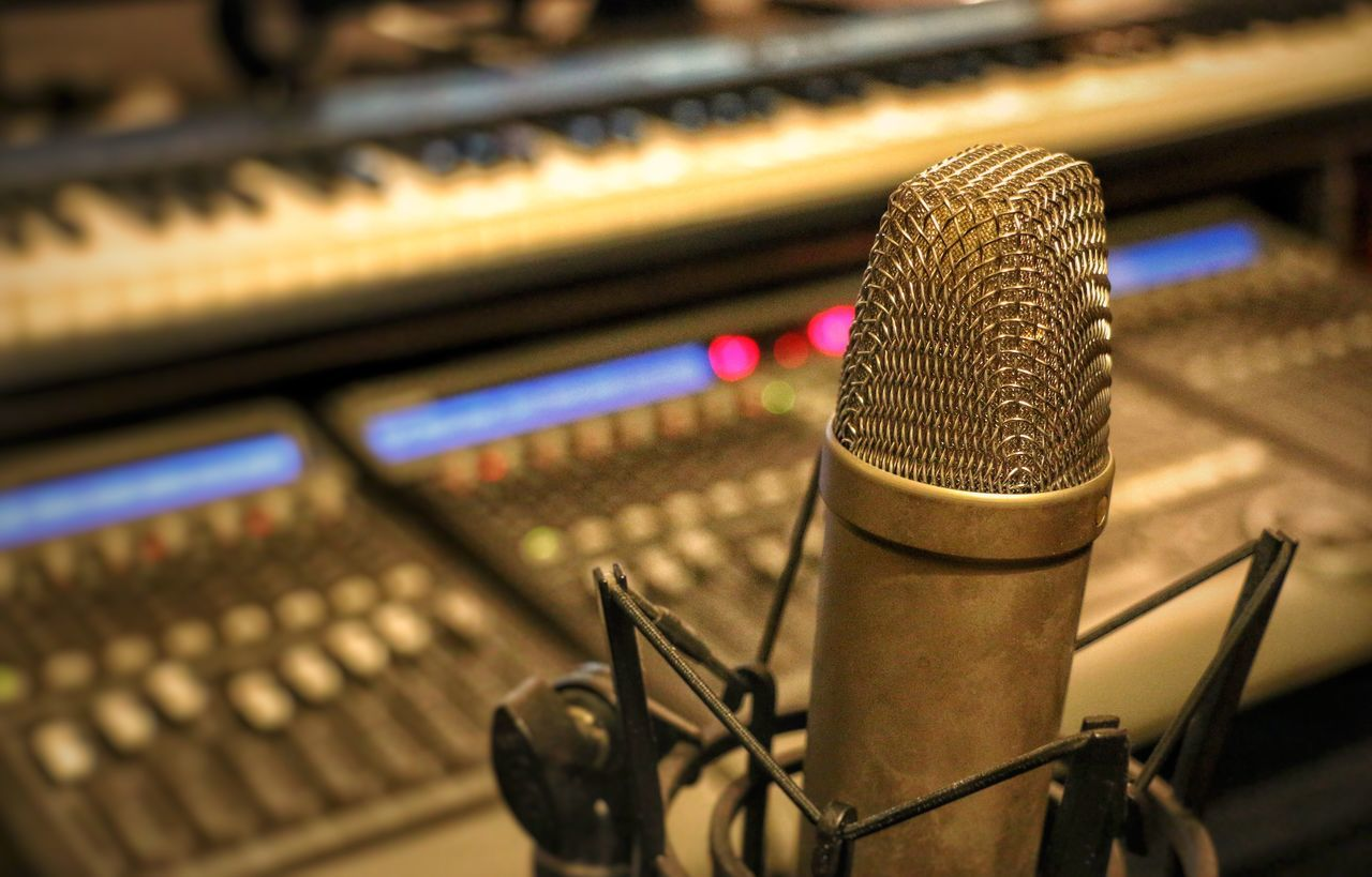 Microphone Music Musician Recording Studio Music Sound Recording Equipment Studio Voice Records Broadcasting Arts Culture And Entertainment Radio Station Mixing Technology Sound Mixer EyeEmBestPics Chris Mat