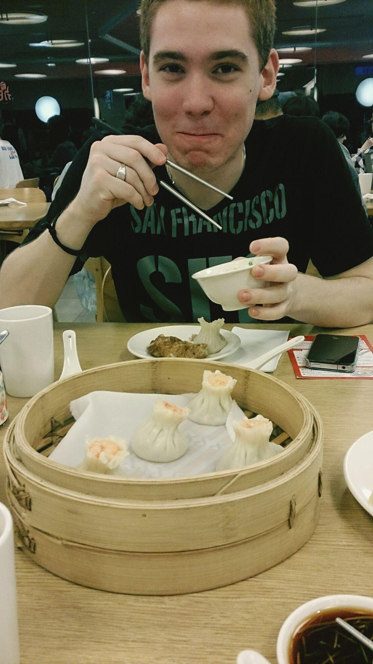 Steamed Dumplings Having Dinner Enjoy Eating Tasty !