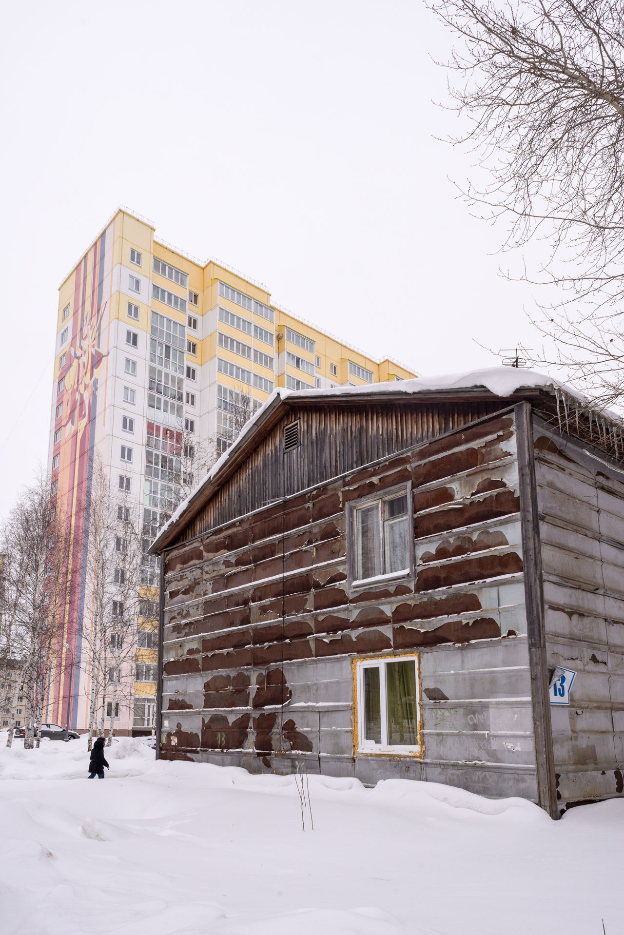 Architecture Bare Tree Building Exterior Built Structure Clear Sky Cold Temperature Day House Nature Outdoors Poor  Sky Snow Weather Winter