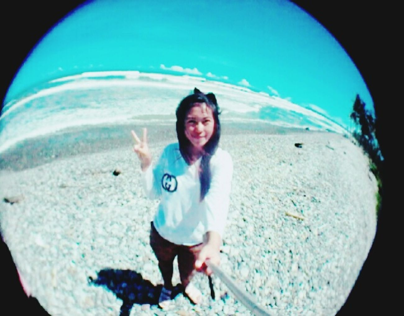 In the Maras Beach.South Bengkulu Beautiful Nature Beach Photography Blue Sky Fisheye Bengkulu Explorebengkulu INDONESIA