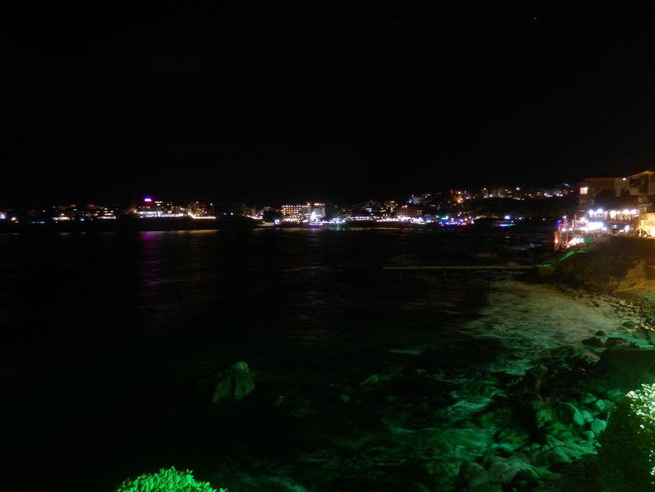 Beach Illuminated Nature Night No People Sea Sky Sozopolis