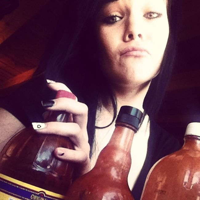I may or may not have a serious hot sauce issue.... Giant Louisiannahotsauce Redhot Tapitio reddevil