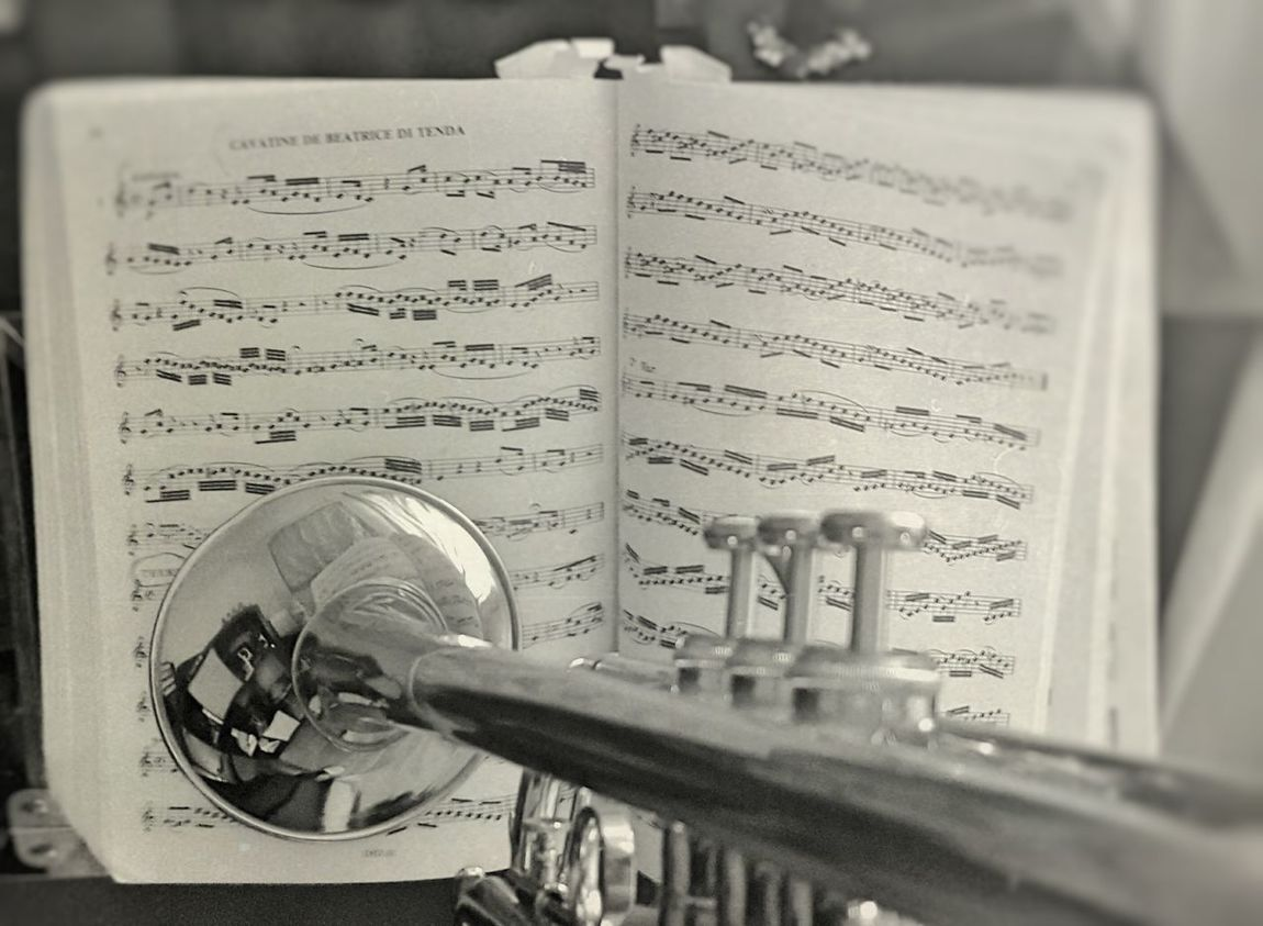 Music Trumpet Partition Music Notes Music Is My Life Music Photography  Black And White