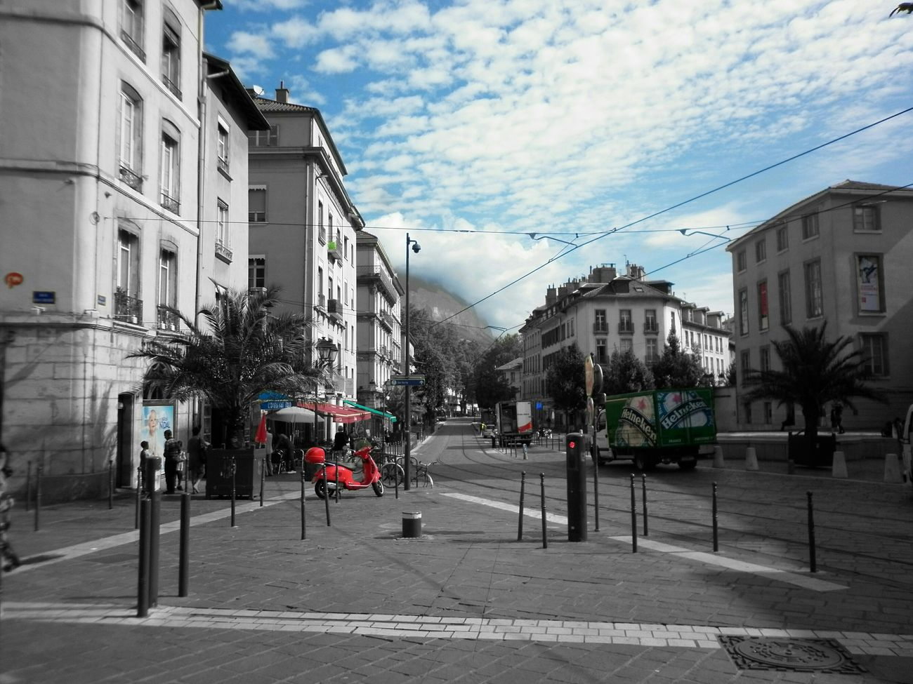 Grenoble France Place Notre-Dame Blackandwhite City Cityscapes Urban Escape