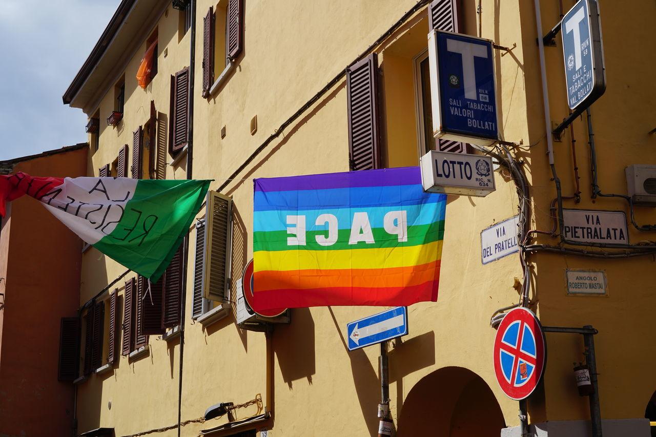 25 Aprile Architecture Building Exterior Built Structure Day Liberazione Multi Colored Outdoors Resistenza Via Del Pratello