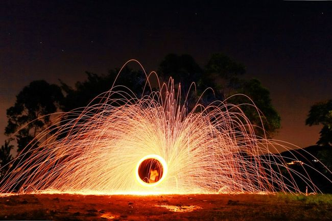 1ST TRIAL Lightpaintingphotography Lightpainting Henrystefanophotography Bogor, Indonesia Firespinning
