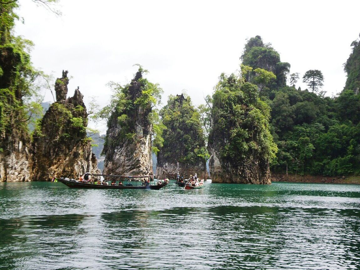 Green Color Beauty Freshness Travel Destinations Thailand Vacation Tourism Day Water Summer Beauty In Nature Lake Moutain Travel Tree กุ้ยหลินเมืองไทย Nature Green Ratchaprapa Dam Relaxing Relaxing Time
