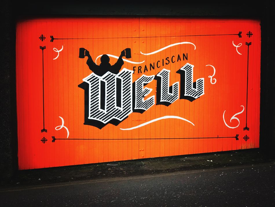 Ireland Cork City Cork Sunday's Well Franciscan Well No People Text Communication Day Close-up Outdoors ArtWork Art Text Orange Orange Colour Craft Beer Craft Brewery