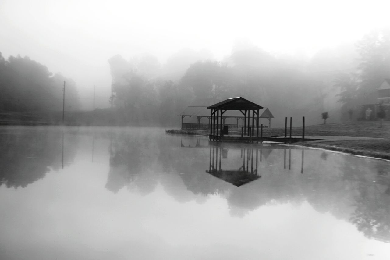 My Year My View EyeEm Nature Lover Fog Reflection Water Nature Idyllic Tranquility Outdoors Tree Lake Beauty In Nature Scenics Extreme Weather Sky No People Natural Disaster Mountain Day Black And White Blackandwhite Photography