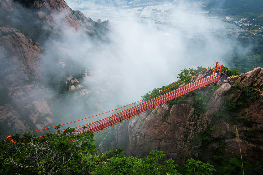 adventure Cloud bridge, this photo was taken at Wolchulsan National park, Yeongam, South korea. Korea Travel Travelling Wolchulsan National Park In Korea Adult Adults Only Adventure Beauty In Nature Bridge Cloud Bridge Danger Day Fog Full Length Landscape Men Mountain Nature One Person Outdoors People Real People RISK Sky Tree