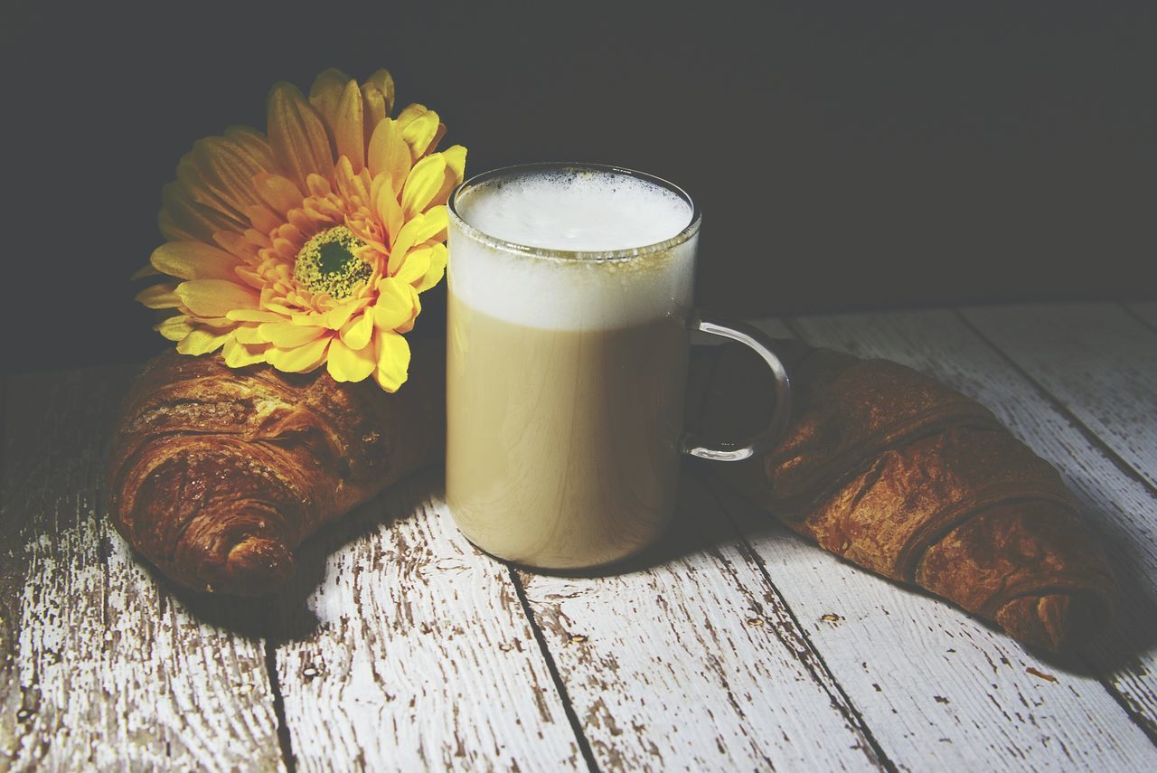 food and drink, freshness, drink, table, food, refreshment, no people, flower, healthy eating, indoors, close-up, frothy drink, ready-to-eat, day
