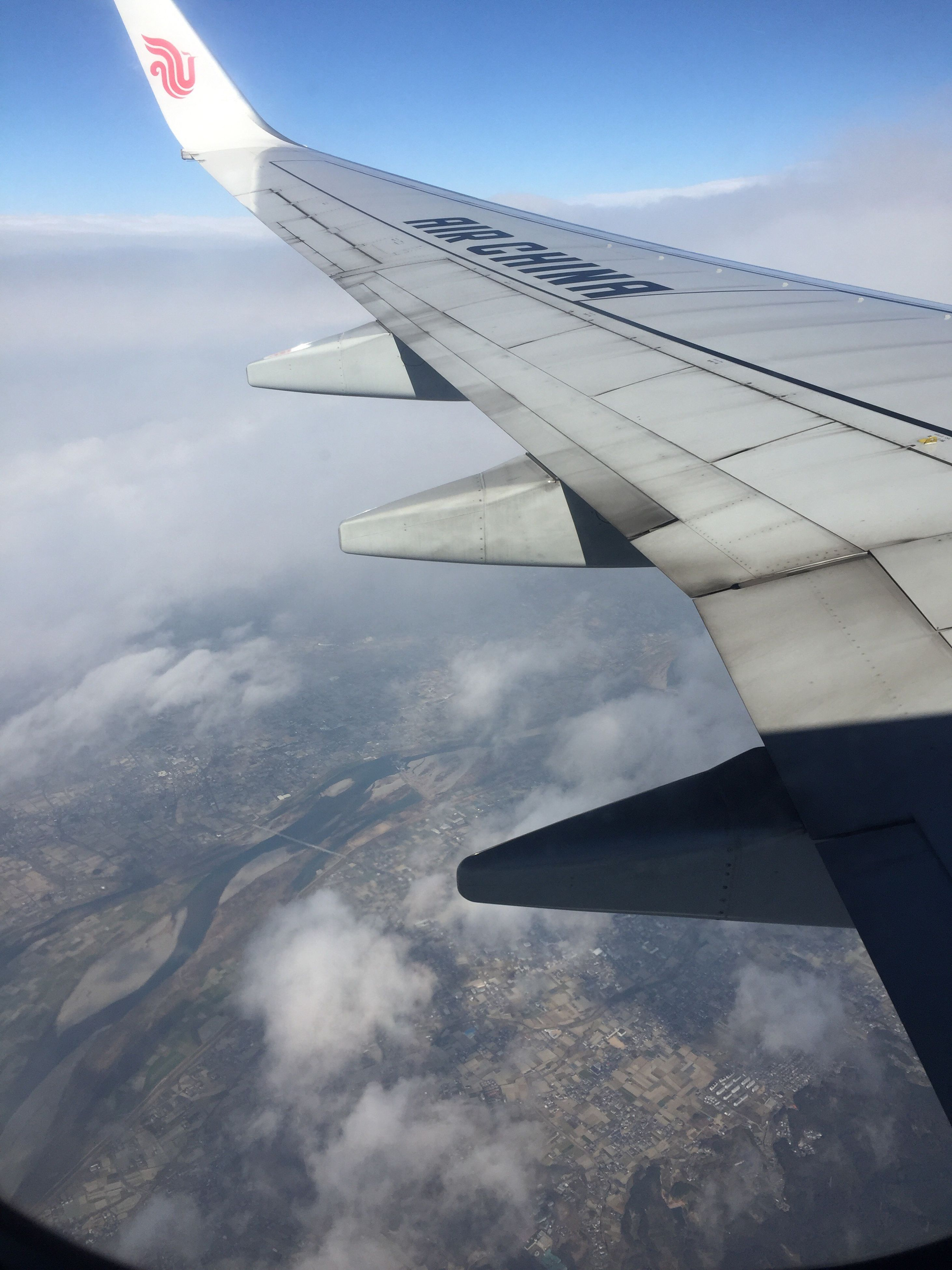 airplane, aircraft wing, transportation, flying, journey, cloud - sky, sky, airplane wing, travel, air vehicle, mode of transport, aerial view, aeroplane, aircraft, no people, day, public transportation, nature, outdoors, close-up