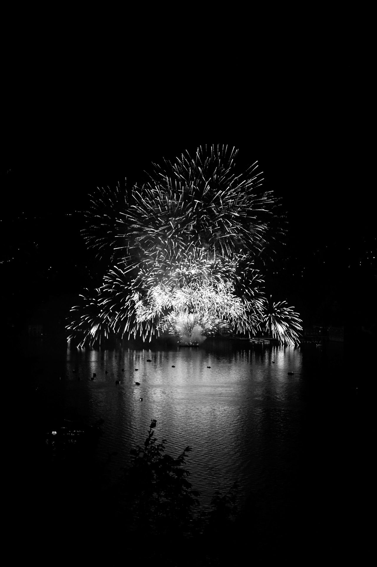 14 Juillet Celebration Firework Display Fireworks Illuminated Italy Nature Night No People Outdoors Reflection Villa D'Este Water Waterfront