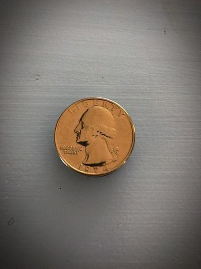 Anyone ever seen a Golden Quarter ? Currency Coin