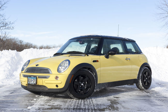 Day 34 of 366. 365project Car Cold Day Land Vehicle Mini Cooper Minnesnowta No Filter R50 Snow Transportation Winter Yellow