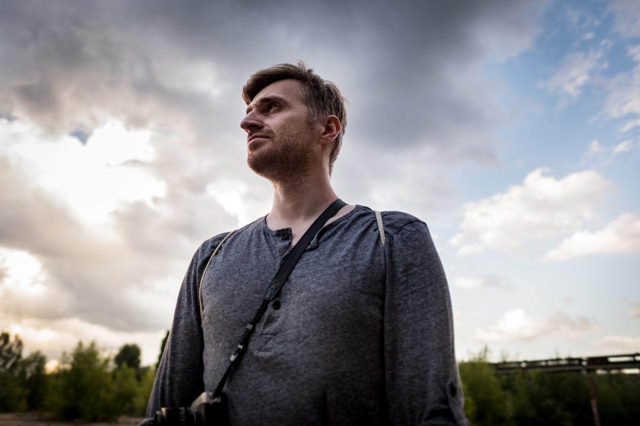 Jędrzej. Cloudy Confidence  Lifestyles Nature Portrait Scenics Young Adult