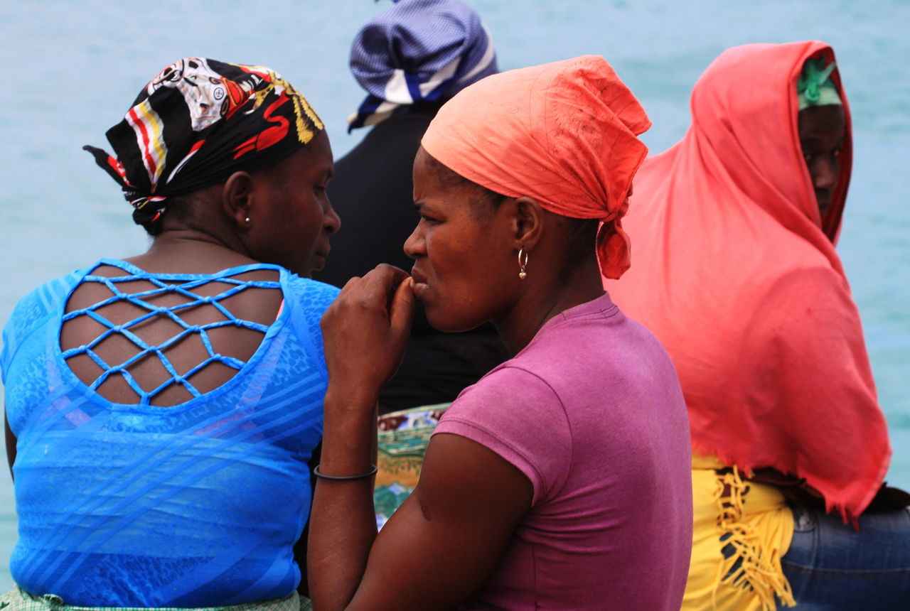 Capo Verde Day Lifestyles Multi Colored Outdoors People Real People Sal Island Santa Maria Summer 2015 The Portraitist - 2017 EyeEm Awards Togetherness Traditional Clothing Women