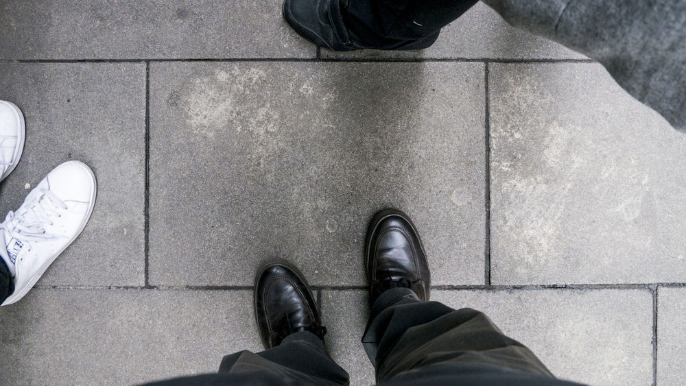 Black And White Canvas Shoe Floor Human Body Part Human Leg Shoe Standing Standing Waiting For Muse