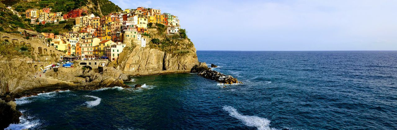 Coastline Old Buildings Italy Cliff Sea Rock - Object Water Nature Beauty In Nature Scenics Vacations Sky