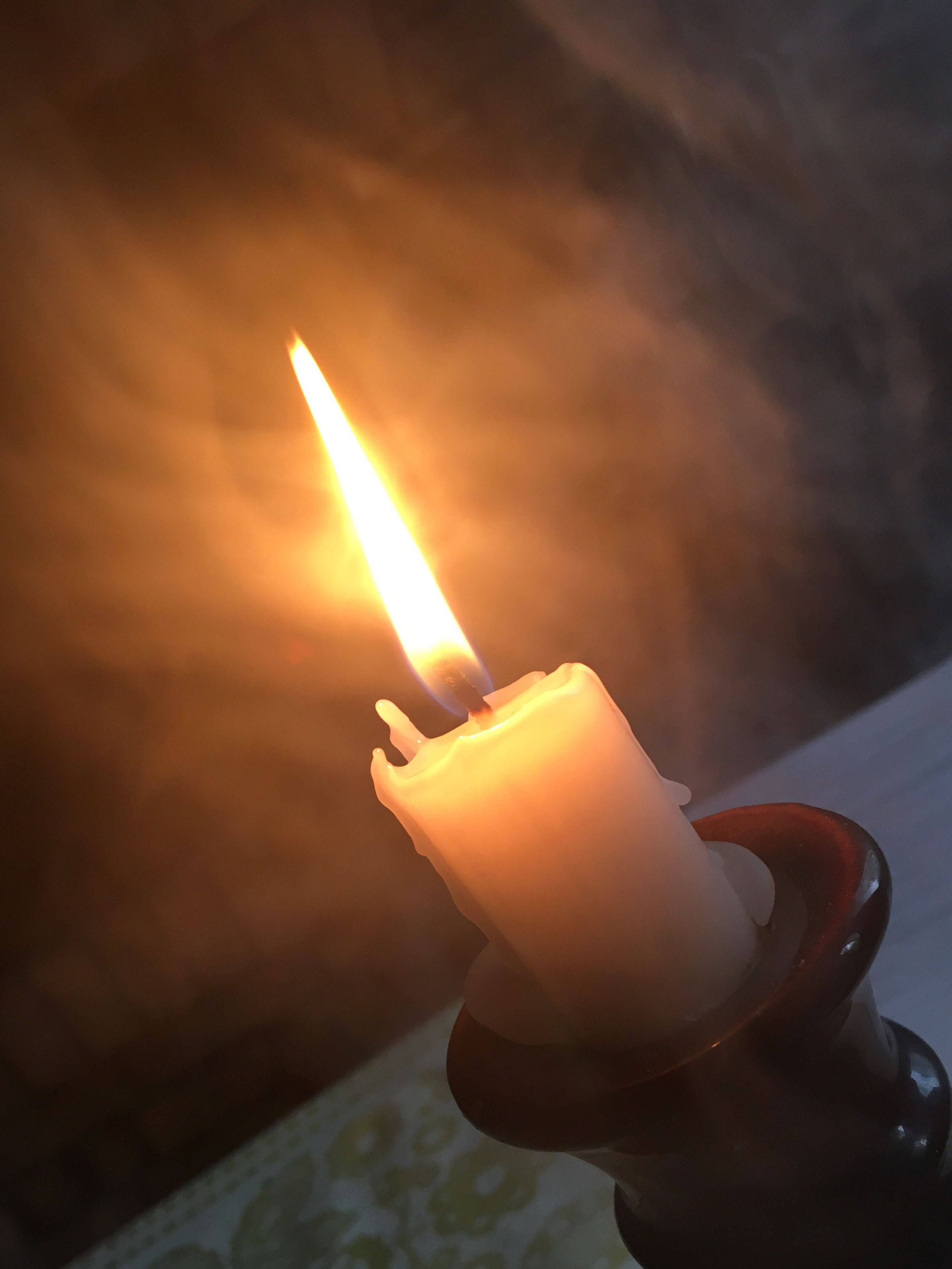 flame, candle, burning, heat - temperature, glowing, illuminated, close-up, focus on foreground, indoors, sunset, no people, night, oil lamp, diya - oil lamp, sky