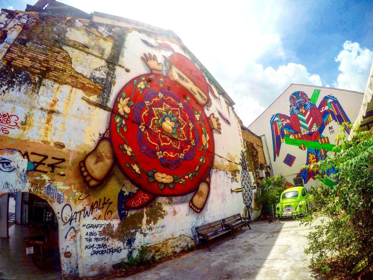 Phuket Phuket,Thailand Mural Mural Art Painting Painting Art Phuketoldtown Chinoportuguese