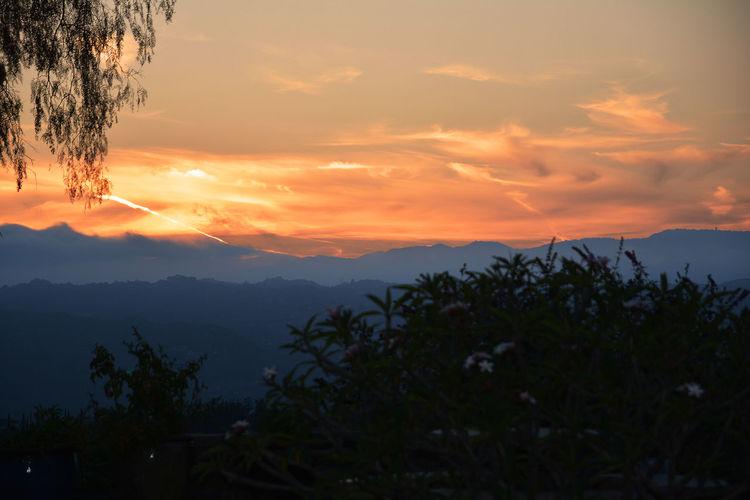 June 9 sunset in #Fallbrook Cloud - Sky Fallbrook Mountain Non-urban Scene Orange Color Scenics Sunset Tranquil Scene