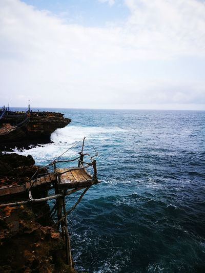 At the edge into infinity Sea Water Horizon Over Water Nature Beauty In Nature Outdoors Beach Turbulent Waters TimangBeach Timang Beach Pantai Timang Indonesia_photography INDONESIA Lost In The Landscape Perspectives On Nature