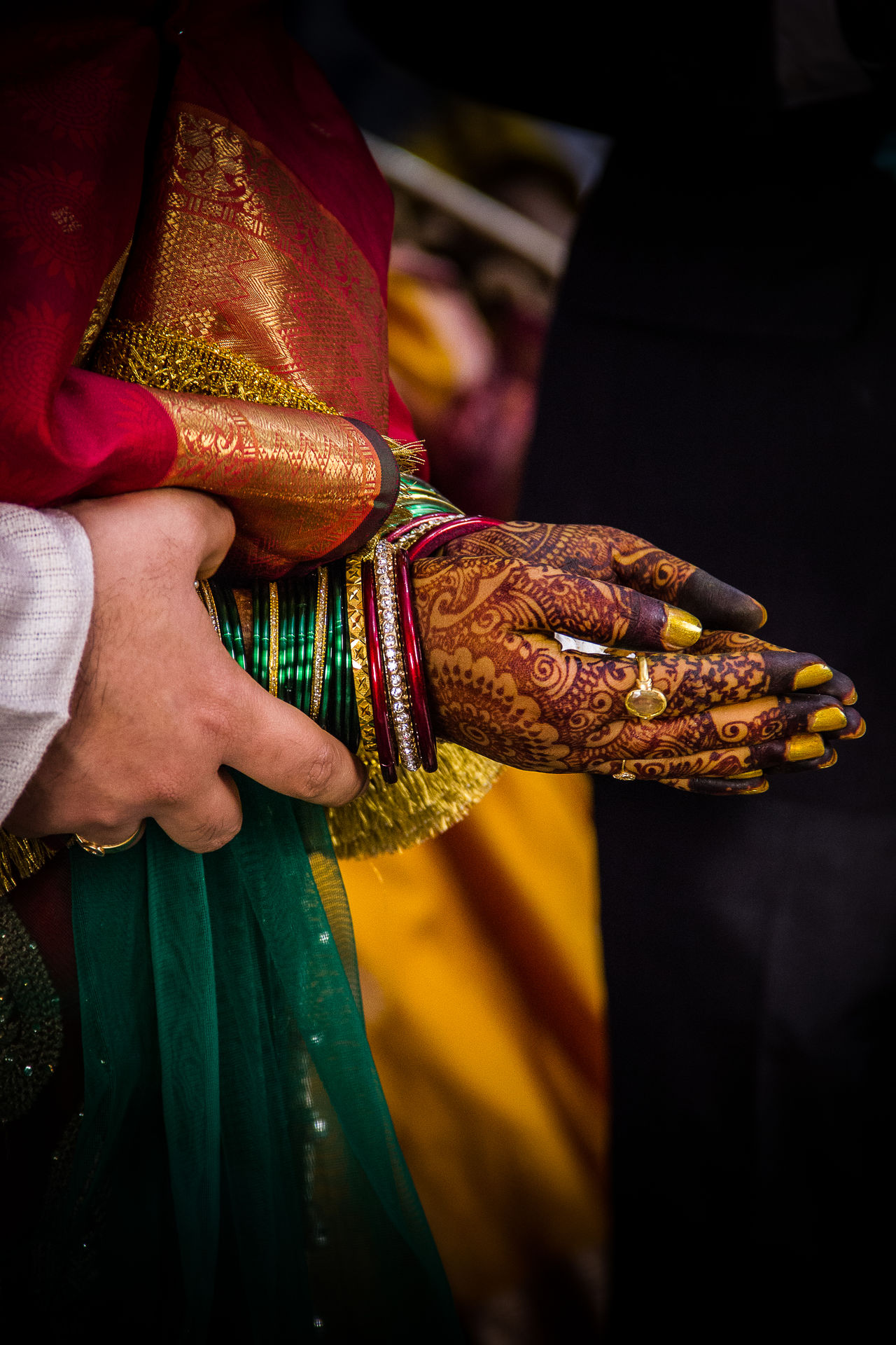 Indian Wedding Rituals Candid Celebration Ceremony Close-up Colorful Colors Hand Happiness Happy Holding India Indian Indian Wedding Joy Joyful Joyful Moments Love Ring Together Wedding Wedding Day Wedding Photography
