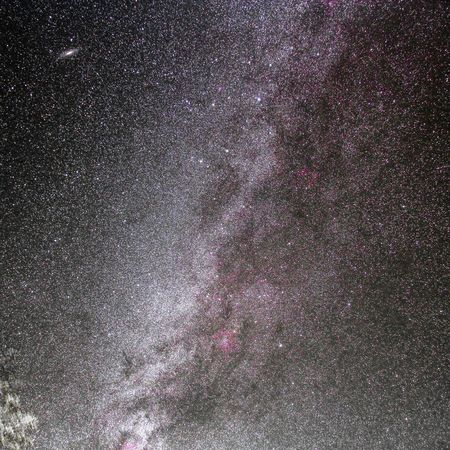 The milkyway and Andromeda. Astrophotography Astronomy Sky At Night Milky Way The Milky Way The Milky Way Galaxy Under The Milky Way TheMilkyWay Andromeda