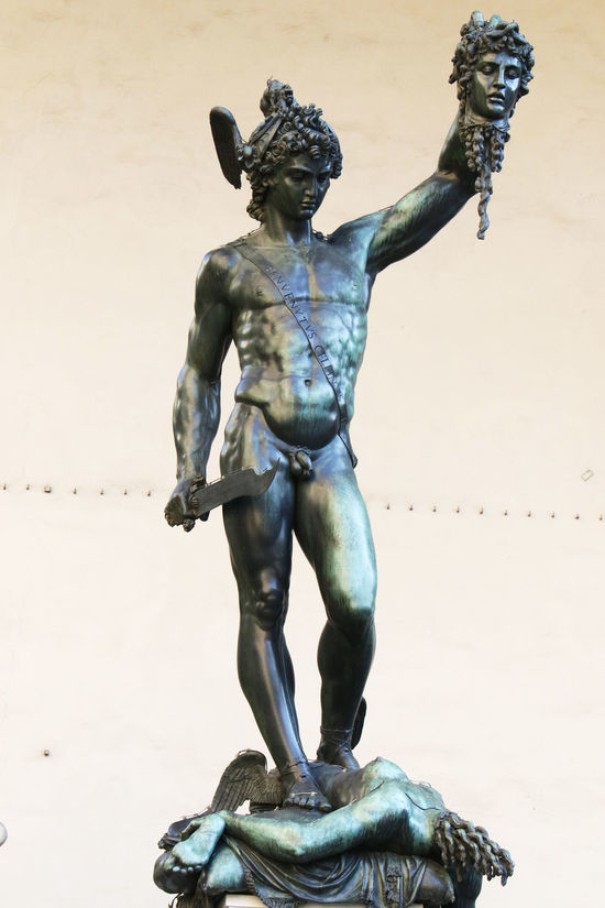 Florence Italy Medusa Perseus Persues Beheads Medusa Statue Sculpture Tourist Attraction  Touristic Destination