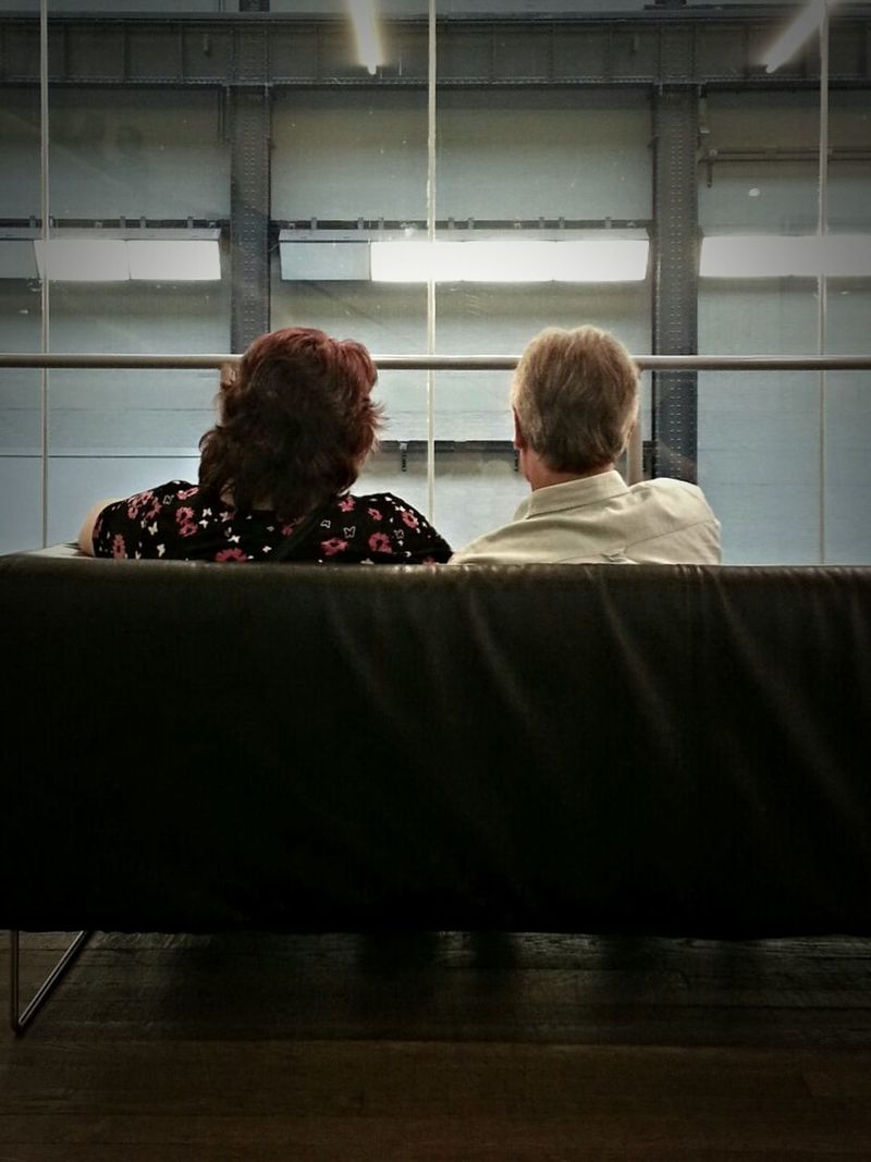 Having loved each other their entire livesIndoors  Rear View People EyeEm Best Shots Indoors  Building Interior Tate Modern London Old Couple In Love EyeEm Best Shots - People + Portrait
