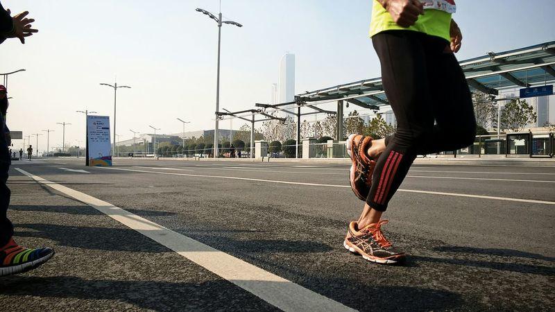Running Runners Marathon Taking Photos Sport