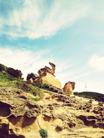 Sky Rock Sunlight