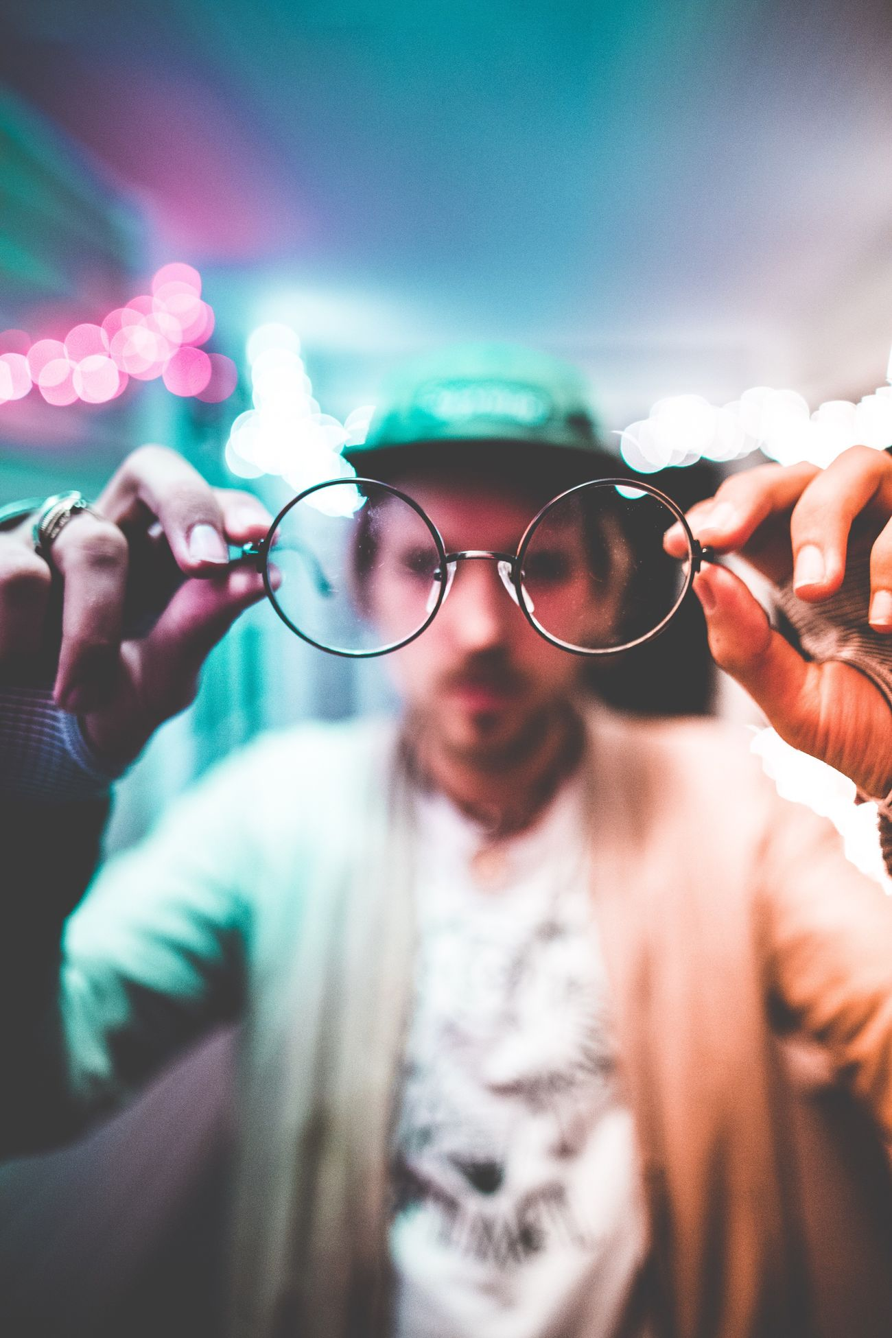 Eyeglasses  Front View One Person Glasses Close-up Real People Women Portrait Cool Eyesight Human Hand Trendy Young Adult Human Body Part Day Outdoors