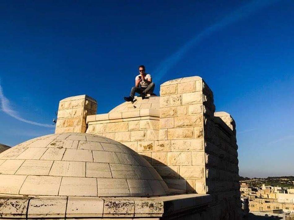 Boy Ontopoftheworld Israel Jerusalem Enjoying Life Enjoying The Sun Sky Blue Cloud - Sky