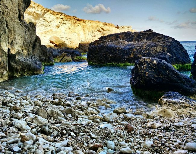 Beautiful Malta Nature Sea Rocks Scene Seaview Hike Amazing View Amazing Found On The Roll Outandabout