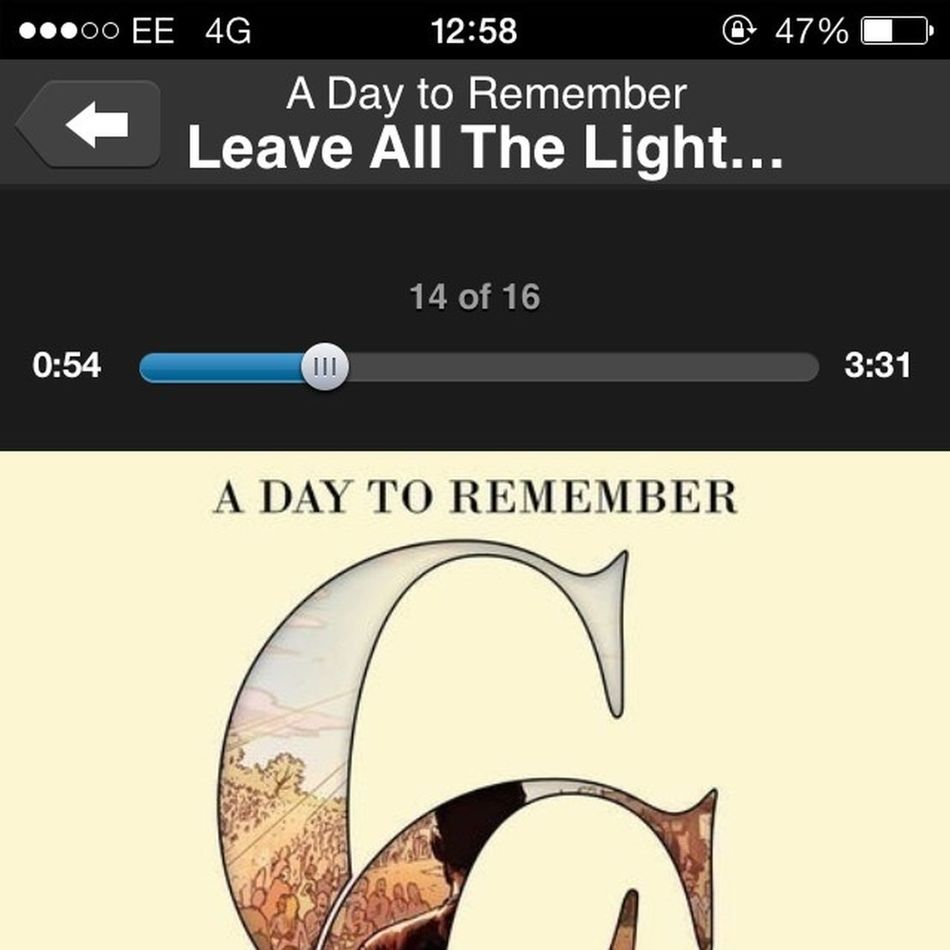 Liking this new song! ADTR ADayToRemember CommonCourtesy Leaveallthelightson