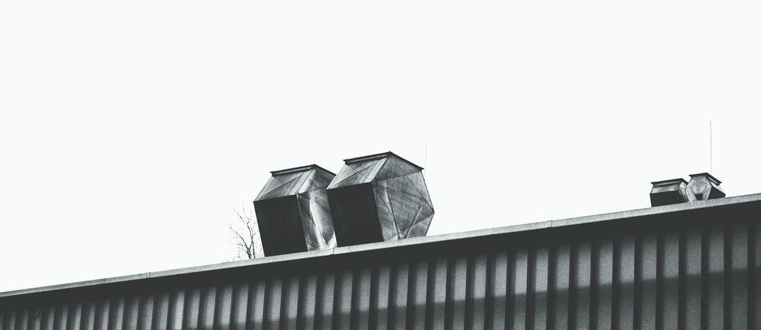 Monochrome Urban Geometry Roof Top Fortheloveofblackandwhite