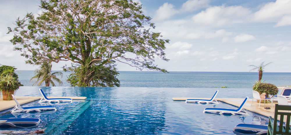 Resort view Chilling Holiday Infinity Pool Luxury Paradise Pool Resort Tranquil Tree Vacation