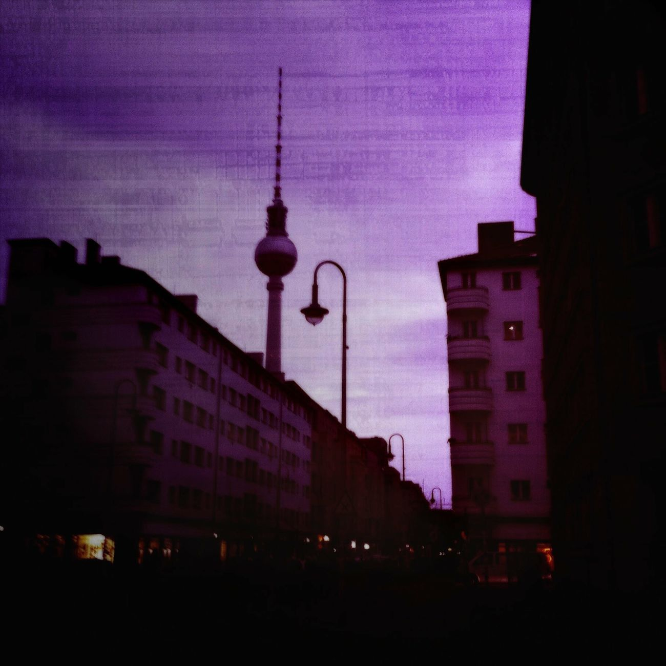 Capture Berlin Berlin City Travel Destinations Travel Photography Architecture Tower Telekom Architecture Playing With Filters IPhoneography Cityscapes Buildings Colours Colour Of Life Street Lamp (null)Lamppost (null)Purple