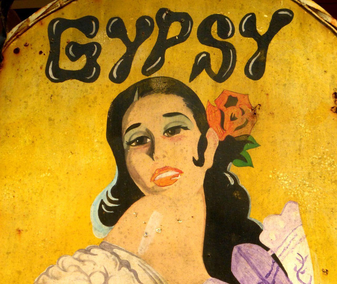 """""""gypsy"""" street sign Creativity Folk Art  Gypsy Human Representation Portrait Of A Woman Shop Sign Street Sign"""