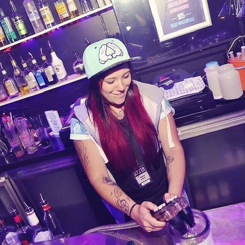Dream job Bartender Melbourne Kamasitonmyface Kamabar Kama Loveit DreamJob Lesbian Instagay Snapback Tattoos Ink Redhair Tattooofinstagram Lesbianofinstagram