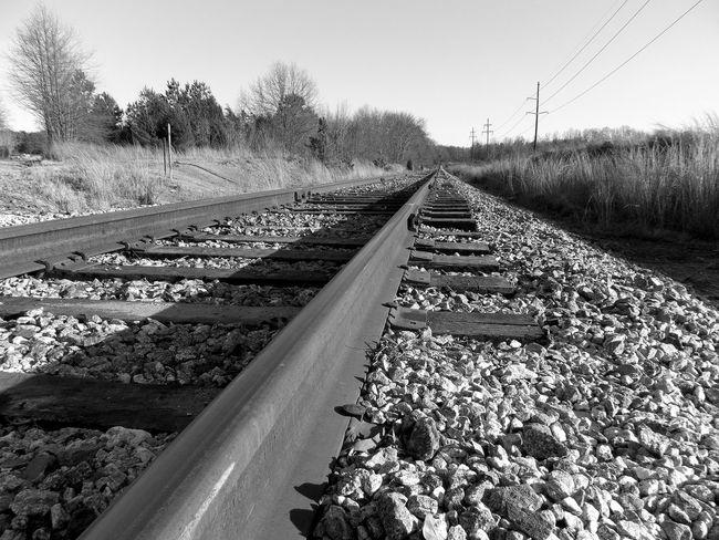 Connection Gravel Rail Transportation Railroad Track Stone - Object Surface Level The Way Forward Transportation Vanishing Point