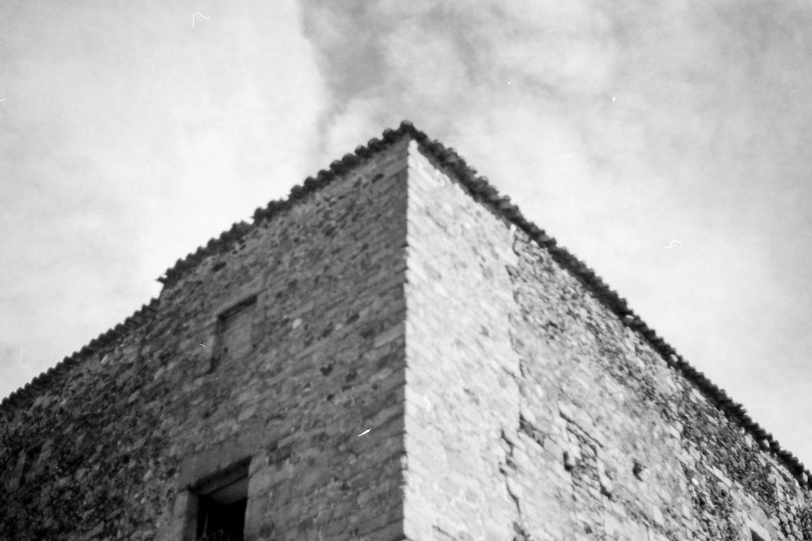 Architecture Building Exterior Built Structure Cloud - Sky Day Film House Ilford Low Angle View Monochrome No People Outdoors Pyramid Rune Shadow Shadows & Lights Sky
