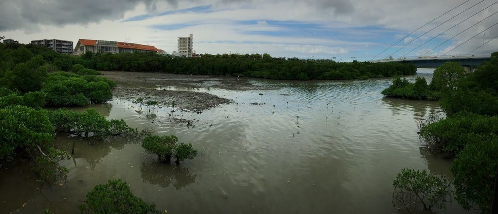 Here, 71years ago, many soldiers of Japan had killed themselves. It was summer in 1945. IPhoneography Panorama OKINAWA, JAPAN Landscape_photography Landscape Nature Water War Memorial War And Peace Japan Lake