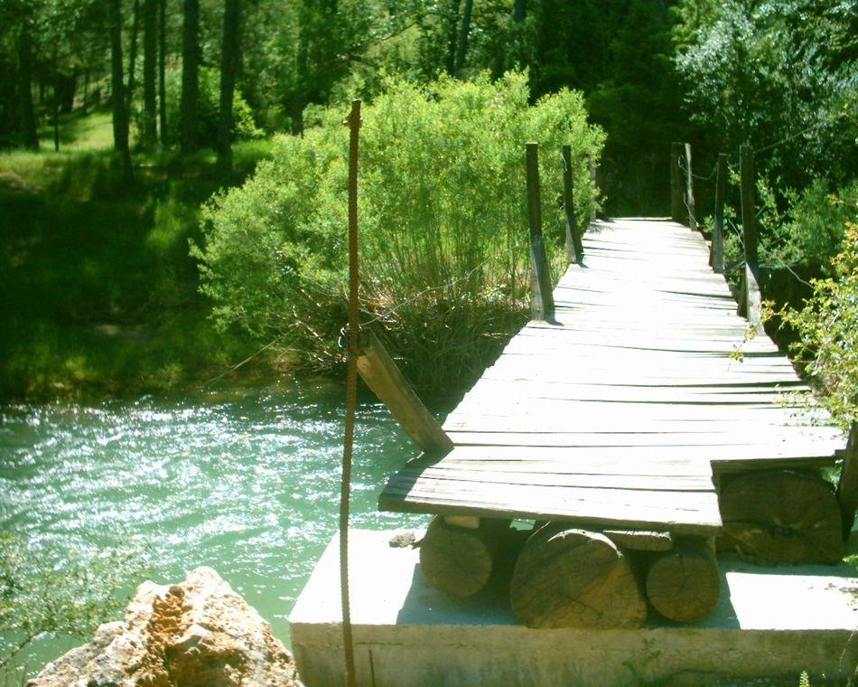 Boniches Bridge Camp Campamento CastillaLaMancha Espana-Spain España🇪🇸 Fuente Del Trillero Nature Puente Puente De Madera Rio Cabriel River Wood Bridge
